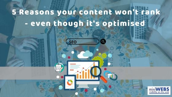 5 reasons your content won't rank – even though it's optimised