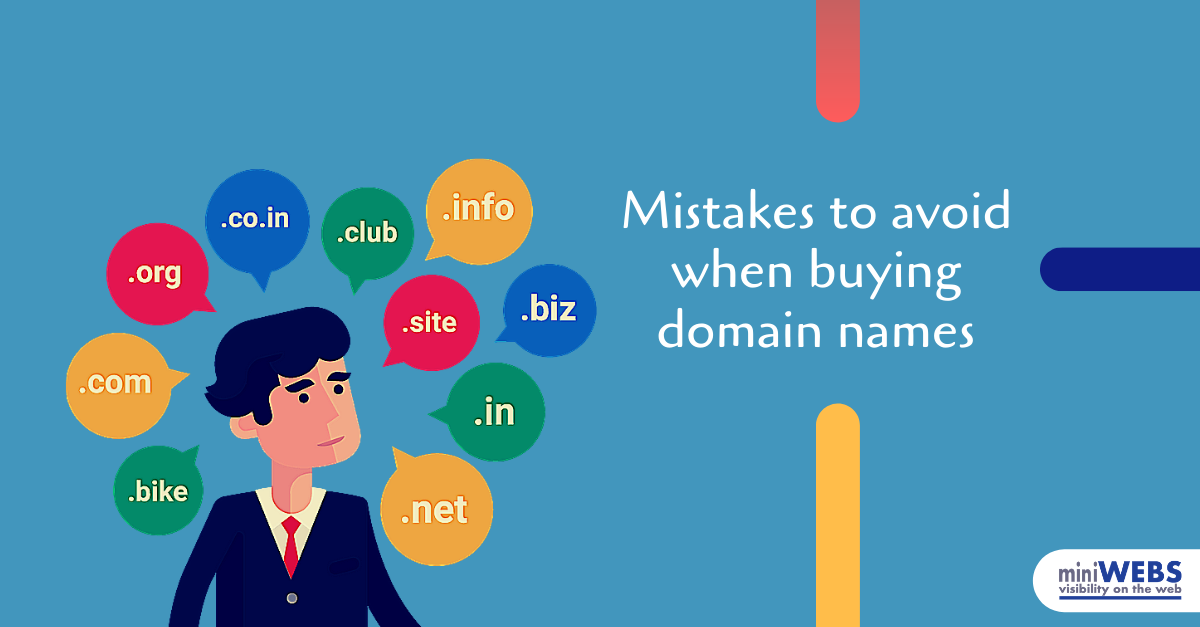 Mistakes to avoid when buying domain names