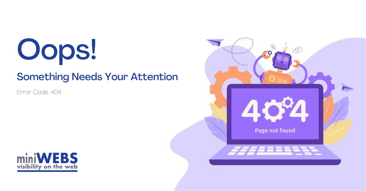 404 Page Not Found - Something Needs Your Attention